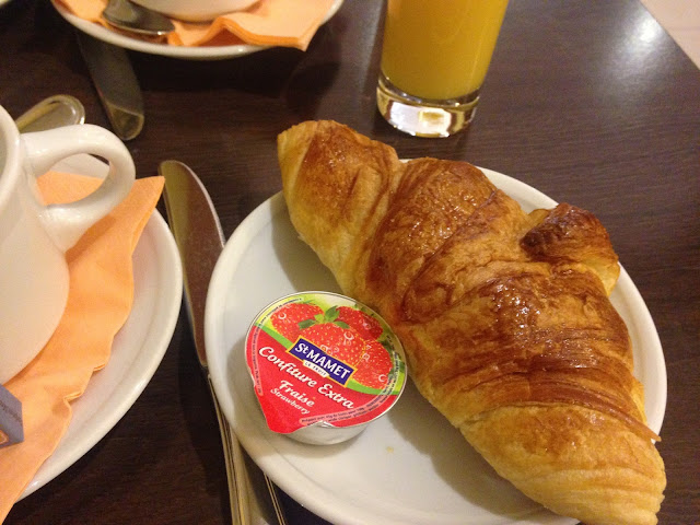 France Paris holiday french food croissant and jam