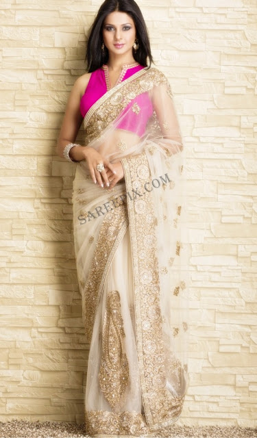 Jennifer-winget-transparent-saree-photoshoot-Meena-Bazaar