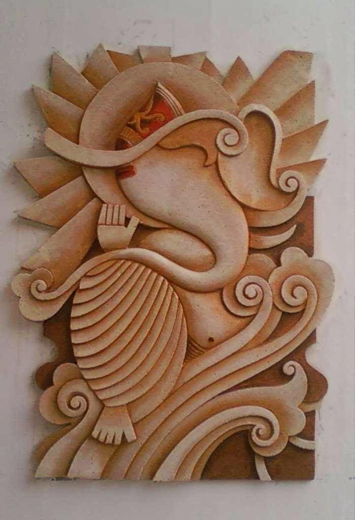 Mural art by datta vaidya for Mural art on wood