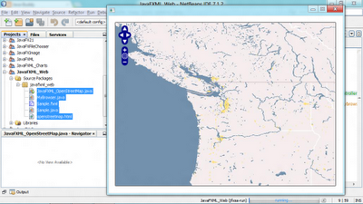 Embed WebView in FXML, to load OpenLayers with OpenStreetMap.