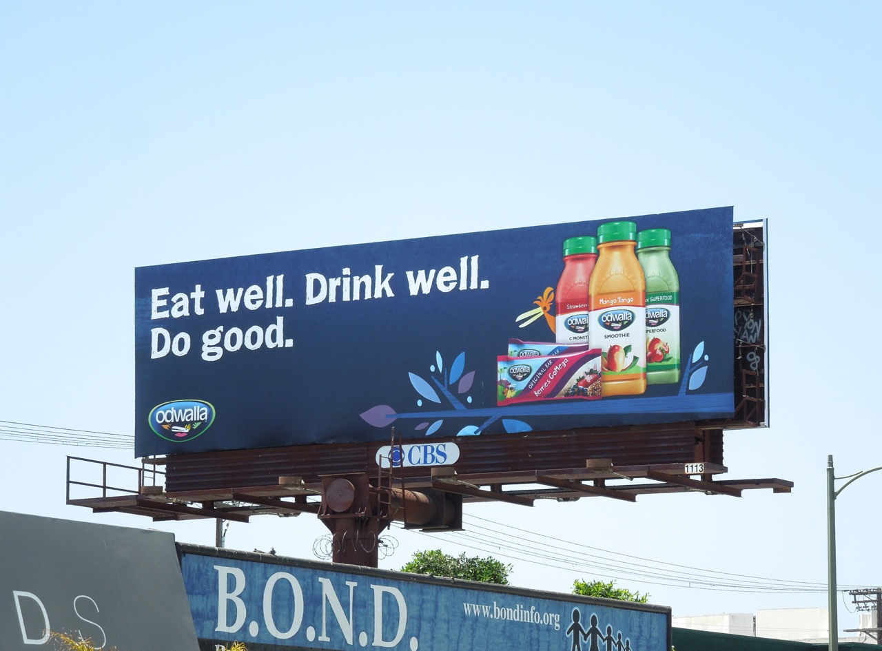 Daily Billboard Odwalla Goodness Drinks And Health Bar