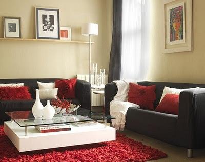 Decora el hogar decoraci n del hogar color negro for Comedor negro con rojo
