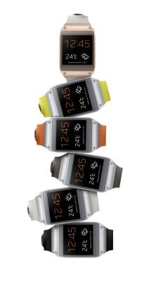 Tante varianti di colore per lo smartwath Galaxy Gear: nero, grigio, arancione, verde eccetera