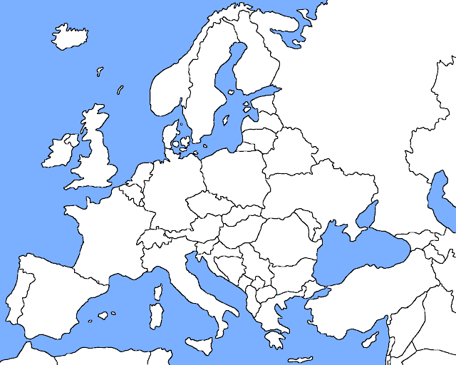 ... Blank Europe Map Countries. on blank map of european countries