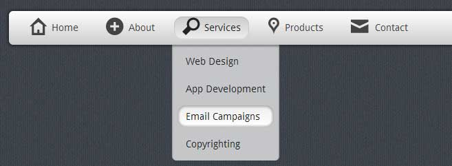 Stunning Grey Dropdown Menu With Css3