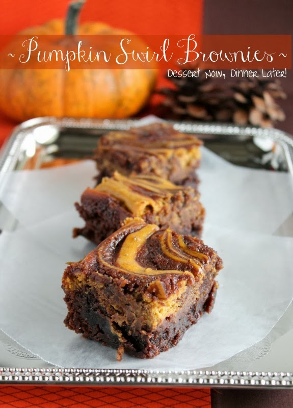 Pumpkin Swirl Brownies - Dessert Now, Dinner Later!