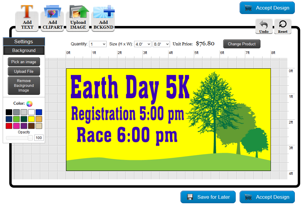 Earth Day Banner Template in the Online Designer