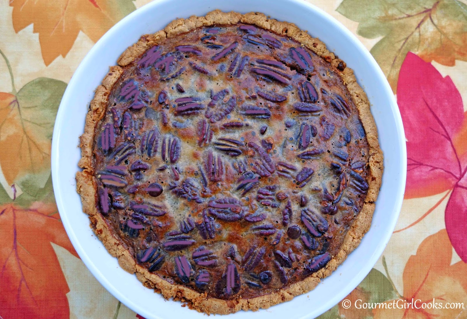 Gourmet Girl Cooks: Chocolate Pecan Pie - Low Carb & No Sugar Added