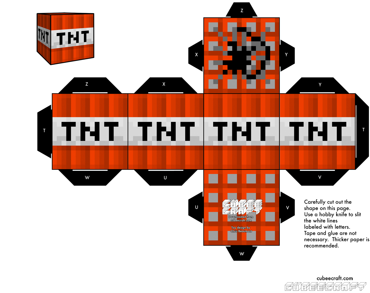 It is a picture of Légend Minecraft Tnt Printable