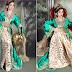 قفطان العروس المغربية باللون الأخضر