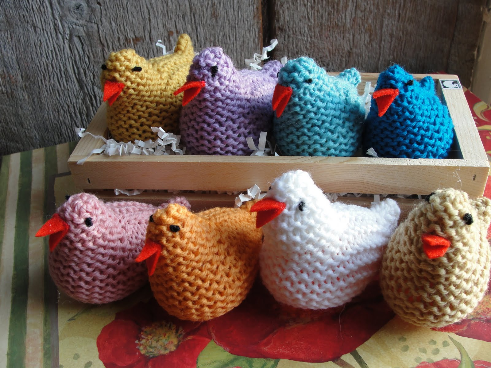 Pattern For Knit Infinity Scarf : A Doll Shop of My Own: Knitted Easter Chicken