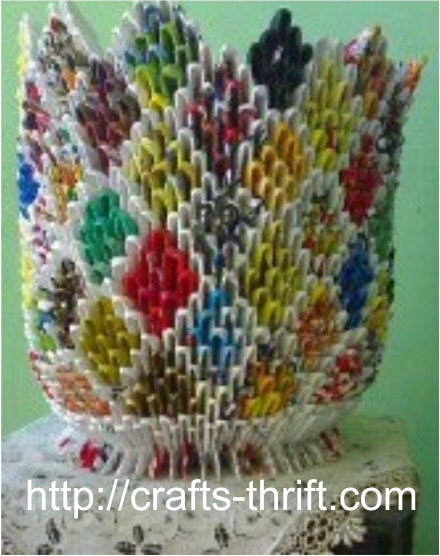 Handicraft items from waste material crafts for Waste material products