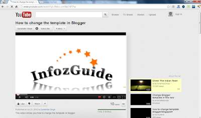 Open Video Target Page in Youtube