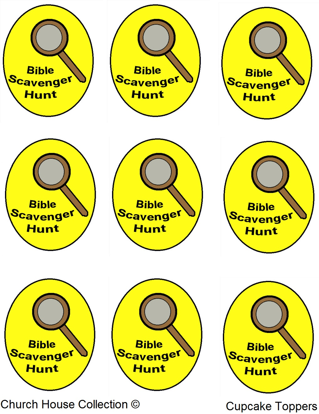 church house collection blog bible scavenger hunt cupcakes. Black Bedroom Furniture Sets. Home Design Ideas