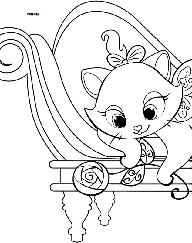 imagens para colorir da gatinha marie da disney