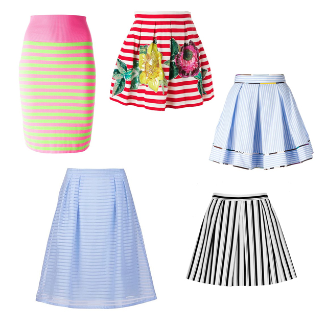 Striped skirt wishlist from Fashiola