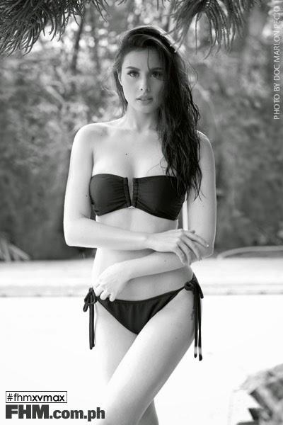 Max Collins black bikini