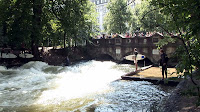 River Surfing at the Eisbach in Munich