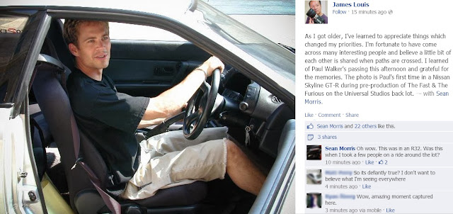 Social Media Sharing Paul Walkers' Death and Recalling Good Memories