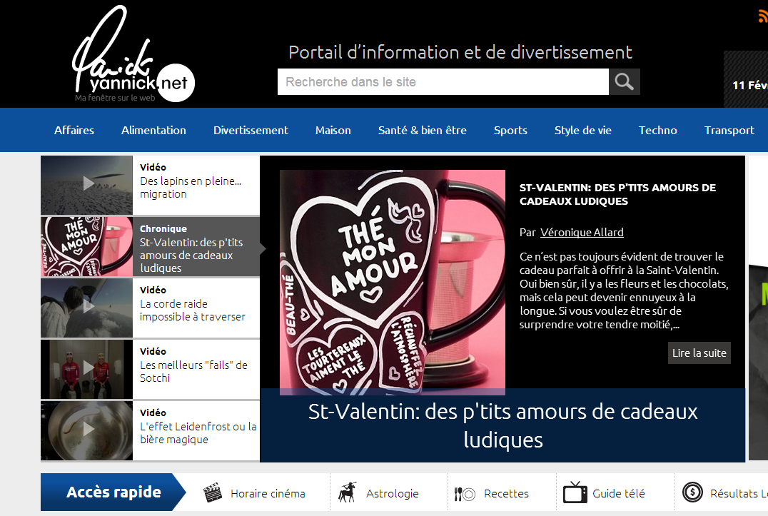 St-Valentin: des p'tits amours de cadeaux ludiques (Yannick.net)