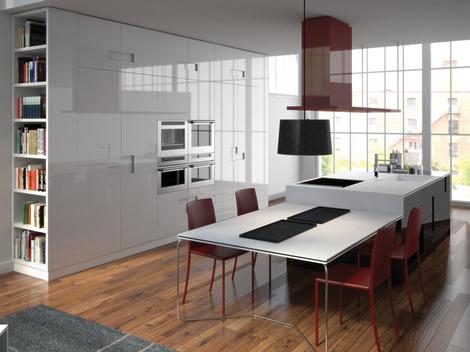 s arquitetura e planejamento decora o cozinha minimalista