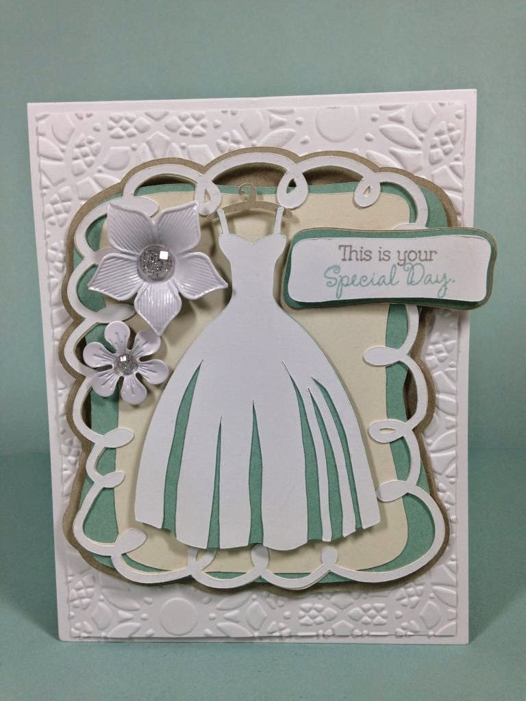 Cricut Wedding card
