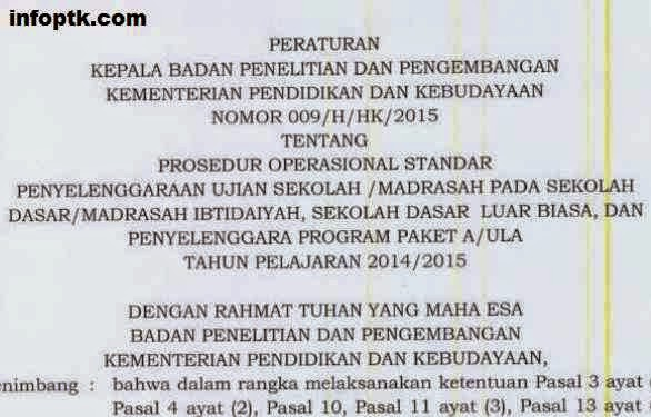 POS UJian Sekolah Dasar Madarsah Ibtidaiyah