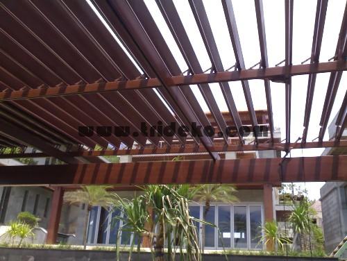 Atap Buka Tutup,atap carport, atap aluminium, atap canopy