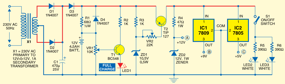 raj s thoughts mini ups system rh trivediraj blogspot com simple mini ups circuit diagram Battery Backup Circuit Diagram
