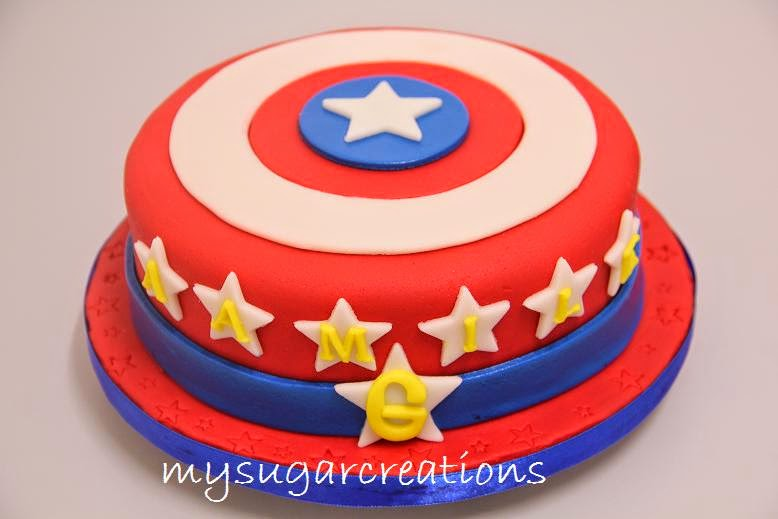 My Sugar Creations 001943746M Captain America Cake