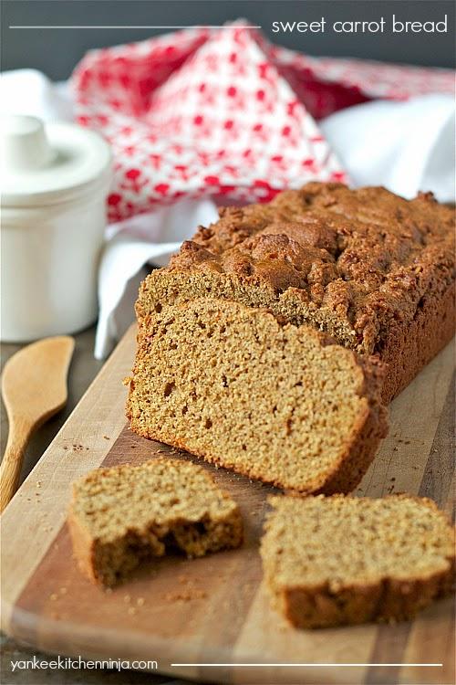 healthy sweet carrot bread recipe