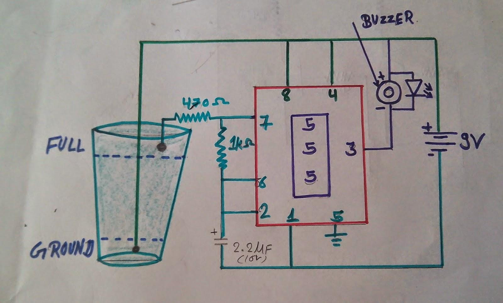 Buzzertypecircuitg schematic diagram of water level indicator pooptronica Gallery