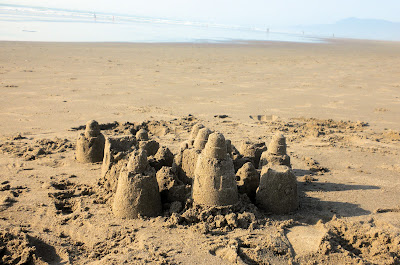 photo of sandcastle at rockaway beach oregon by Nancy Zavada