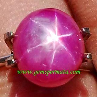 Batu Permata Star Ruby Corundum
