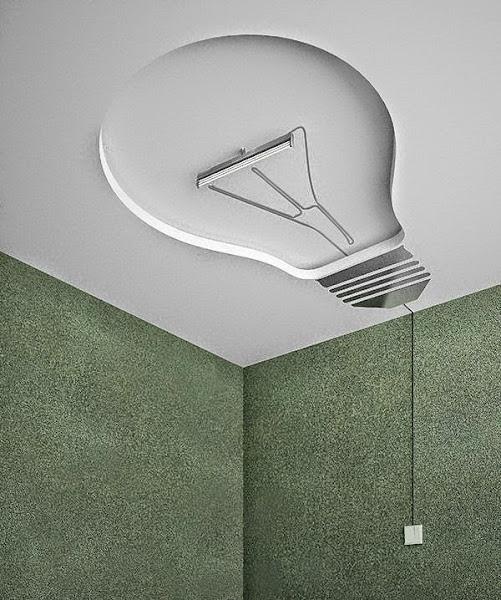 Habitacion rock decorar tu casa es - Lamparas techo originales ...