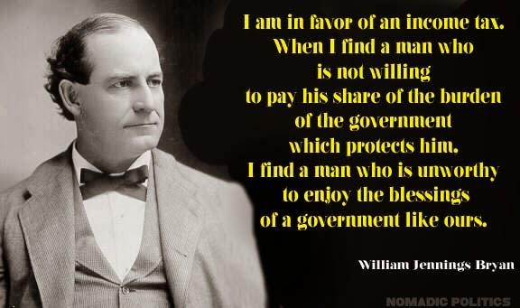 Income Tax Willima Jennings Bryan