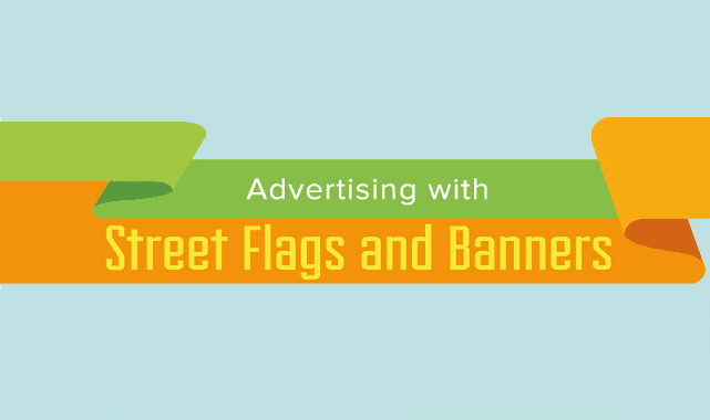 Image: Advertising with Street Flags and Banners