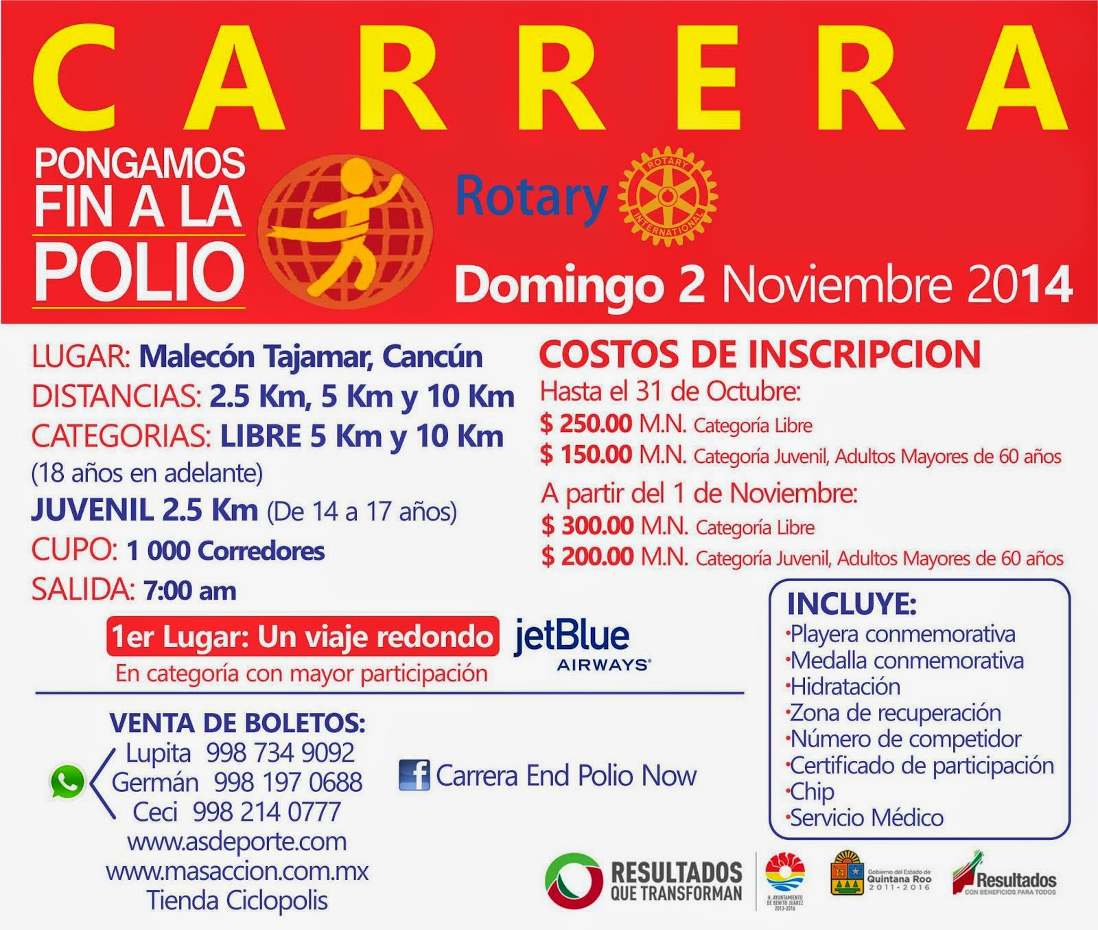 Carrera Rotary International 5 y 10 km