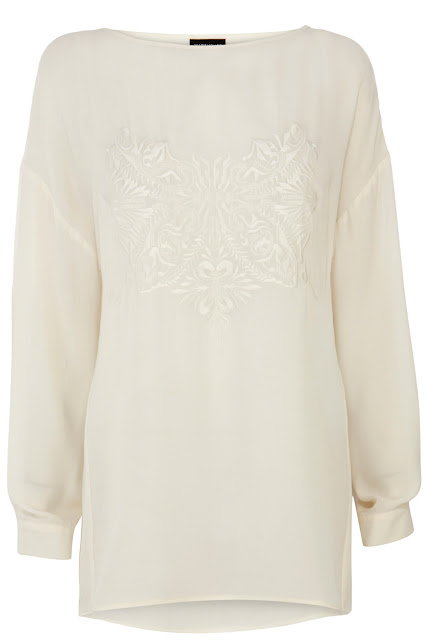 embroidered loose top