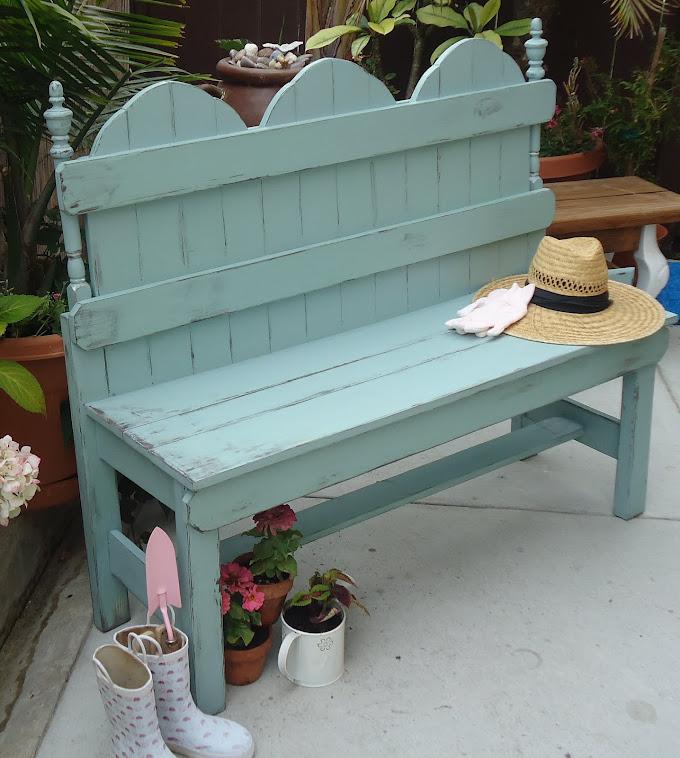 Vintage Style Garden Bench - SOLD