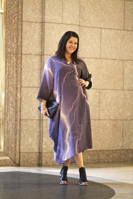 Fashions Night Out Lightning Print Caftan Dress Pacific Place