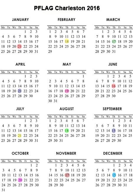 Monthly Meeting Calendar