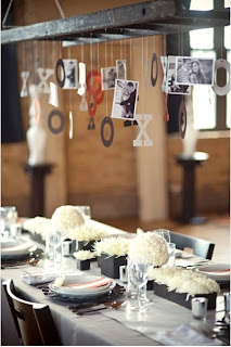 Hanging Ladder table decorations