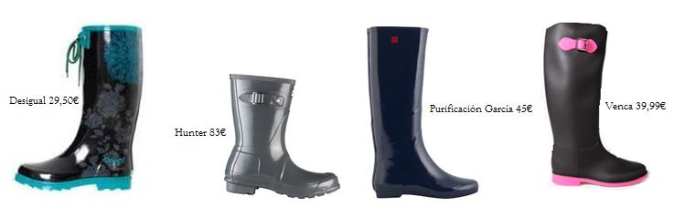 Modelos de botas de agua