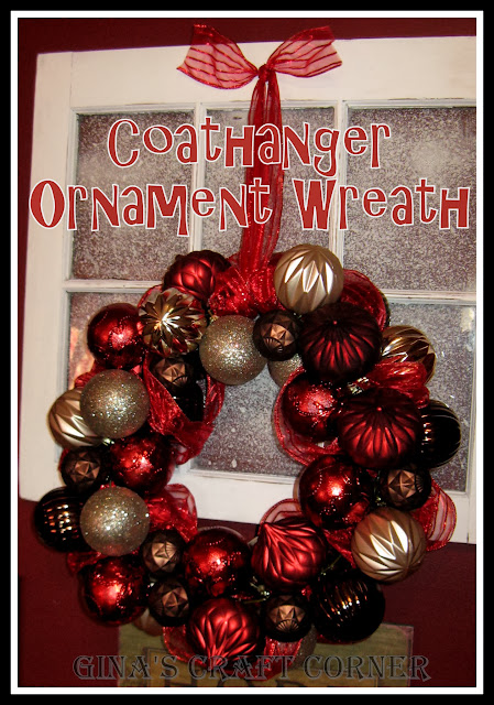 Christmas Ball Coat Hanger Wreath