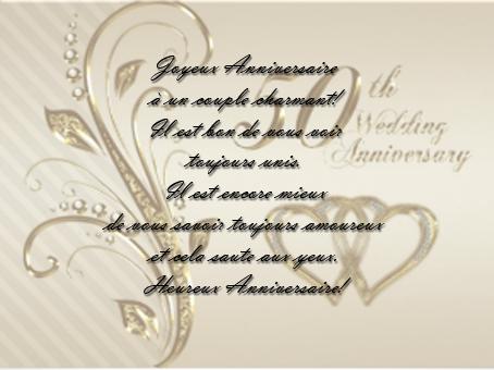 carte pour anniversaire de mariage 50 ans textes cartes de souhaits mariage chez ema - Texte 50 Ans De Mariage Noces D Or