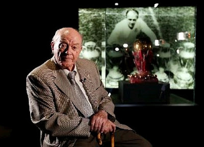 Di Stefano at the Real Madrid museum