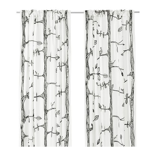 Eivor curtains, Ikea, drapes, drapery, interior designed