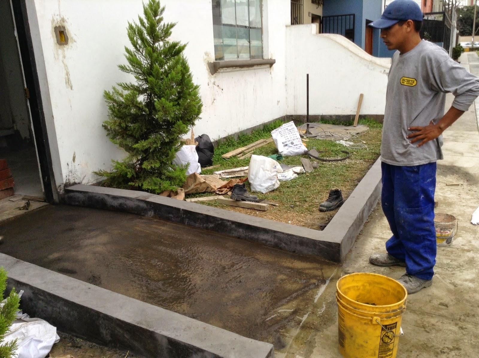 Increte per systems rampa y sardineles con concreto - Tipos de jardineras ...