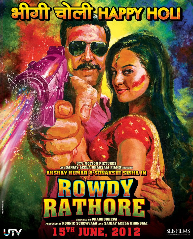 The Holi-special poster of Rowdy Rathore - The Holi-special poster of Rowdy Rathore!